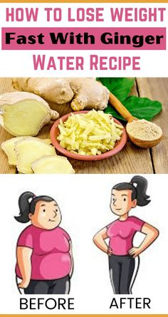 Healthy Drinks, Healthy Recipes, Fat Burning Tea, Ginger Water, Water Recipes, How To Lose Weight Fast, Burns, Thighs, Workout