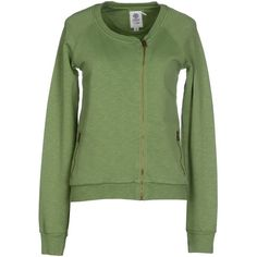 Franklin & Marshall Sweatshirt ($100) ❤ liked on Polyvore featuring tops, hoodies, sweatshirts, military green, green top, sweat tops, cotton 3/4 sleeve tops, logo sweatshirts and three quarter sleeve tops
