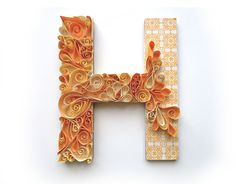 Curled paper letters DIY