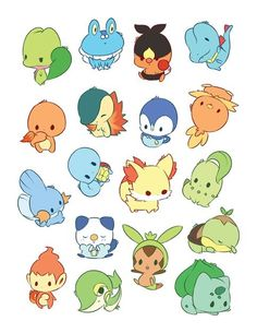 One self-cut sticker sheet Pre-Order End Date: Pokemon Fan Art, O Pokemon, Cute Animal Drawings, Kawaii Drawings, Cute Drawings, Griffonnages Kawaii, Desu Desu, Pokemon Starters, Cute Pokemon Wallpaper