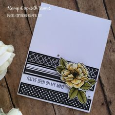 Stampin' Up! True Love Monochromatic Card – Stamp It Up with Jaimie True Love, Stampin Up, Love You, Paper Crafting, Cards, Fields, January, Flowers, Black