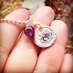 Hand stamped March of Dimes necklace  on Etsy, $17.00