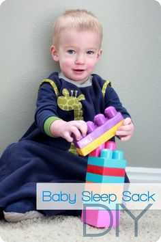 quick and easy little baby sleep gown with instructions for drawing up your own pattern - baby won't wake up cold anymore!