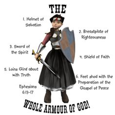 Whole Armour Of God - Whole Armor Of God - Her Light Blue T-shirts - Virtuous Planet