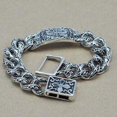 925 Silver Cross Bracelet
