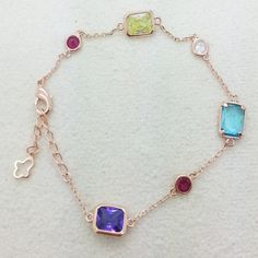 Custom made Multi Colored Gold & Pink Bracelets @ https://www.gokoco.com/gkc/fashion-jewelry/bracelets/multi-color-stone-goldpink-bracelet.html #bracelets #fashionjewelry #custombracelets #pinkbracelets #multicolorbracelets #stonebracelets