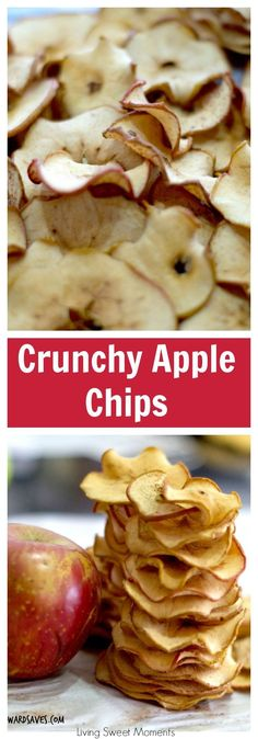 Easy to make and delicious! The oven does the hard work. Make these Apple Chips recipe at home, kid friendly and customizable. Love the crunchy spicy chips. More back to school recipes at livingsweetmoments.com  via @Livingsmoments