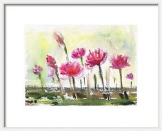 """Buy Waterlilies Floral 11.25""""x 8.25"""" watercolor painting, Watercolor by Art by Aashaa on Artfinder. Discover thousands of other original paintings, prints, sculptures and photography from independent artists."""