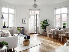 Een Zweeds appartement in de lentesfeer - Roomed