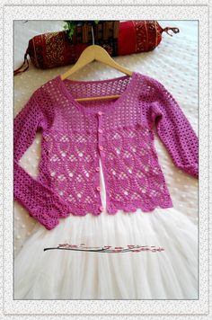 Crochet Blouse, Crochet Tops, Vest, Satin, Lace, Long Sleeve, Sweaters, Pink, Dresses