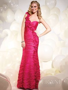 07484e743b0e Mermaid Red One-shoulder Long Prom Dress With Ruche Red Homecoming Dresses,  Mermaid Bridesmaid