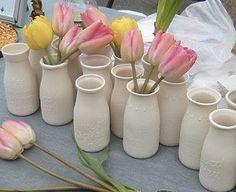 Bottle Vase Cloverleaf DairyAntique Replica by alyssaettinge