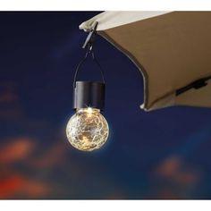 Umbrella Lights, Outdoor Umbrella, Solar Led Lights, Crackle Glass, Color Changing Led, Solar Panels, Light Up, Clear Glass, Bulb