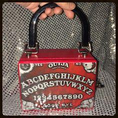 Red Ouija Board Mini Cigar Box purse by PhantomBoxPurses on Etsy