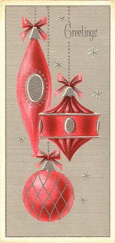 (via VINTAGE CHRISTMAS LOVE….. / Hanging 1950's Christmas Ornaments)