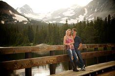 Brainard Lake Ward Colorado Mountain Engagement bridge