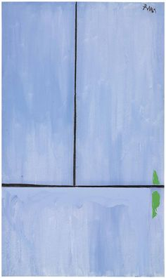 Robert Motherwell (1915-1991) Open No. 81: In Blue with Charcoal Line Price realised USD 2,172,500 Estimate USD 800,000 - USD 1,200,000