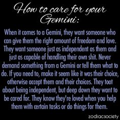 How To Care For Your Gemini: