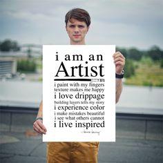 POSTER   i am an Artist