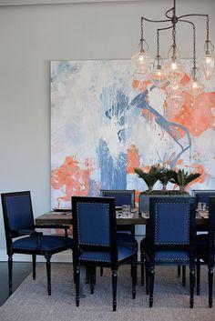 AshleyDarryl - desire to inspire - desiretoinspire.net.  Blue dining chairs.