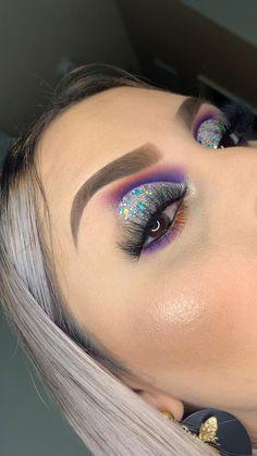 Party Eye Makeup, Rave Makeup, Pink Eye Makeup, Makeup Eye Looks, Beautiful Eye Makeup, Colorful Eye Makeup, Eye Makeup Art, Makeup Tips Eyeshadow, Makeup Pictorial