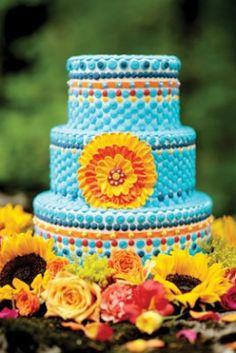 love the look of this, looks like tiles-fiesta wedding