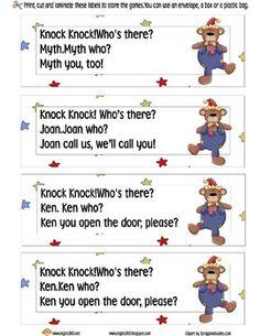 Free! Knock knock jokes sticks
