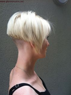 Undercut Bob Haircut | Very Short Hairstyle Clipper Cut Nape And Sides Pixie For