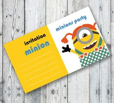 MINIONS Party INVITATION For Baby Girls Printable by OopsyIdeas
