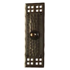 Craftsman Pacific Style Doorbell Handcrafted From Solid Copper And Oil Rubbed Bronze Finish Only