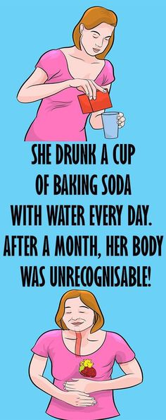 She Drunk A Cup Of Baking Soda & Water Every Day. After A Month, Her Body Was Unrecognizable! - Living For Healthy Life Style Baking Soda Water, Baking Soda Shampoo, Baking Soda Uses, Baking Soda For Health, Health Remedies, Home Remedies, Health Benefits, Health Tips, Health Essay