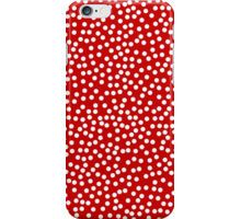 red and white polka dots. rockabilly. timeless patterns. 20+ colors iPhone Case/Skin