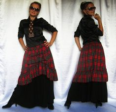 Skirt Autumn Winter Spring Warm Plaid Check  by SunshineProduct