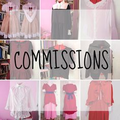 The commissions are OPEN!  Thanks to your support, this 2017 will be even better!  Just like last year, I'm going to show you the list of the garments I can make, adding also a materials list.  Please read all the information carefully! 🍓 Garments (Lolita, otome, fairy kei, decora & cosplay*) Women: - Blouse - Dress - JSK - Skirt - Bolero - Jacket  Men: - Shirt - Jacket  Note: if you're willing to have some bloomers or pants, must give me a chance because I haven't tried to make any. Also…