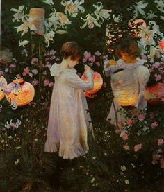 My favorite painting -by John Singer Sargent. It's me as a young girl in my favorite place at my favorite time of the day.