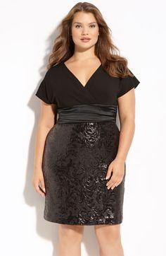 Kay Unger Sequin Skirt Dress Plus Size #UNIQUE_WOMENS_FASHION