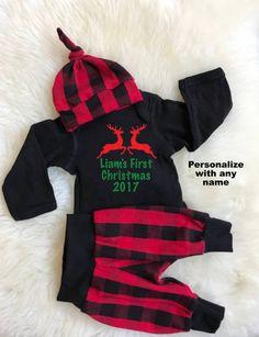 dbb1bfceeaf My First Christmas Outfit Boy Baby Boy First Christmas Outfit My 1st  Christmas Baby Girl First Christmas Outfit Red Plaid Baby Shower