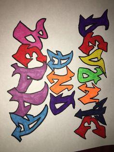 Devonte and Bella graffiti drawing (paper)