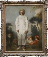 Jean-Antoine WATTEAU (Valenciennes, 1684 - Nogent-sur-Marne, 1721)  Pierrot, dit autrefois Gilles  Vers 1718 - 1719  H. : 1,85 m. ; L. : 1,50 m.  Legs du Dr Louis La Caze, 1869 , 1869  M.I. 1121