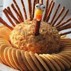 Thanksgiving Turkey Cheese Ball - Crafts a la mode