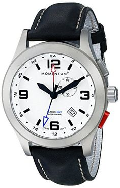 Men's Wrist Watches - Momentum Mens 1MSP58L2B Vortech GMT Analog Display Swiss Quartz Black Watch *** Read more at the image link.
