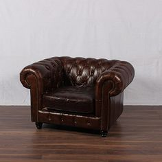 Distressed Brown Chair
