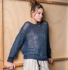 Catalogue : Denim Mania - 16 Looks Diy Crochet And Knitting, Sweater Knitting Patterns, Cardigan Pattern, Knit Cardigan, Style Feminin, Make Your Own Clothes, Diy Dress, Cardigans For Women, Knitwear