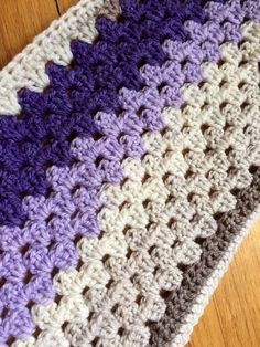 I jumped on the Caron Cake bandwagon. I chose Lilac Frosting (cream, beige, lavender and violet). The yarn is soft and I had no problem with the abrupt color changes. I had one knot I needed to cut…