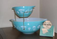 Every 1950's housewife had a chip and dip bowl.