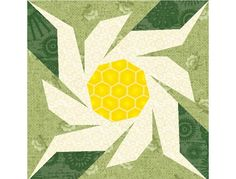 Edelweiss paper pieced quilt block pattern by PieceByNumberQuilts, $3.00