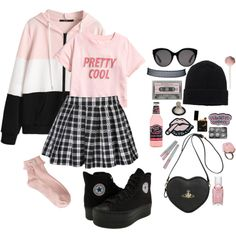A fashion look from March 2018 featuring zip up hoodie, pink socks et black shoes. Browse and shop related looks.