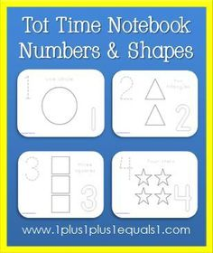 Shapes and Numbers Coloring Printables - FREE