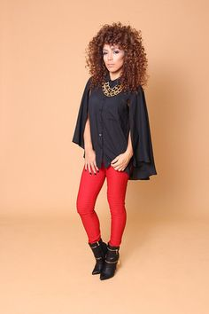 Red Moto Pants