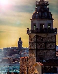 Two towers in Istanbul - Maiden tower and Galata Antalya, Oh The Places You'll Go, Places To Visit, Wonderful Places, Beautiful Places, Naher Osten, Turkey Photos, Turkey Travel, Hagia Sophia